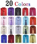 Men's Dress Shirts With Matching Tie Set Cotton Blend Shirt  Set