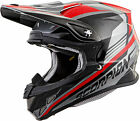 SCORPION VX-R70 ASCEND SILVER/RED Dirt Full Face ECE DOT FREE SHIPPING