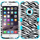 TEAL ZEBRA TOUGH Shockproof Hard Cover Case For Apple iPhone 6 PLUS 6S PLUS