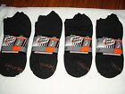 NWT 6,OR 12 PAIR MENS BLACK ODOR EATER SOCKS NO SHOW SIZE 7-12 ATHLETIC SOLID