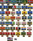 United Kingdom County Flag & Regional Flag iron on Embroidered Patch Badge set
