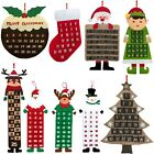 Large Felt Christmas Advent Calendar with Pockets (Santa, Reindeer or Snowman)