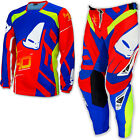 "UFO 2017 40th Anniversary Race Kit MX ENDURO Pants 30"" Jersey Medium Red Blue"