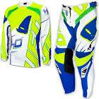 "UFO 2017 40th Anniversary Race Kit MX ENDURO Pants 34"" Jersey Large White Neon"