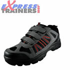 Premier Mens Tracker Velcro Outdoor Walking Hiking Trail Shoes Black *AUTHENTIC*