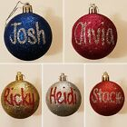 Personalised Christmas Bauble Xmas Tree Decoration. PAY ONE PRICE FOR P&P