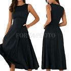 Fashion Women Ladies Summer Sleeveless Party Evening Cocktail Maxi Long Dress