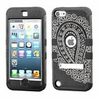 iPod Touch 5th   6th Gen Hard Hybrid Cover Case - Soft Rubber Interior Impact