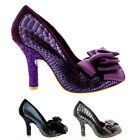 Womens Irregular Choice Ascot Glitter Metallic High Heel Court Shoes UK 3.5-8
