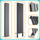 Anthracite Vertical Designer Radiators - Upright Column - Modern Central Heating
