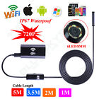 Waterproof 2MP HD Borescope WiFi Endoscope Inspection Camera for iPhone Android