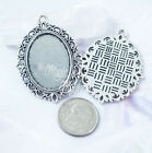 18x25mm Oval Lace Cabochon Frame Bezel Setting Pendant Blank Base Tray 18mm 25mm