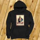 UNCLE SAM ARMY WANT YOU  RECRUIT AMERICAN SOLDIER Mens Black Hoodie