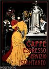 Cafe Espresso 1900 Italian Coffee Vintage Advertising Giclee Canvas Print 20x28