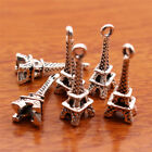 50 piece 21mm charms 3D Eiffel pendant DIY Jewelry Necklace Tibetan Silver E7097