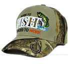 Sports Outdoors Hunting Best Deals - Fishing Hunting cap hat FISH, HUNT Outdoor Sports Baseball cap Strap Adjustable