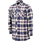 VOLCOM Mens 2017 Snowboard Western Navy Plaid SIMONS INSULATED FLANNEL JACKET