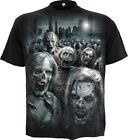 Spiral Direct ZOMBIE HORDE, Walking Dead  Casual T-Shirt Black|Blood|Horror