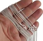 Solid Italian 925 Sterling Silver Chain Necklaces Various Styles and Lengths