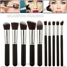 10 Pcs Professional Make up Brushes Set Foundation Blusher Eyeshadow Face Powder <br/> Next Day Delivery - 1 Year Warranty - with Soft Hair