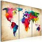 Fashion Environmental Professional Canvas Triple World Map Hanging On The Wall