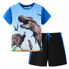 Pyjamas Boys Summer Pjs Set (sz 3-7) Royal Blue Dinosaur Sz 3 4 5 6 7