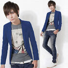 New Men Slim Fit Suit Formal Business Casual One Button Suit Blazers Coat Jacket