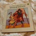 My Little Book: DAVID & GOLIATH 1992 CHILDREN'S BOOK BIBLE STORY ISREAL Religion