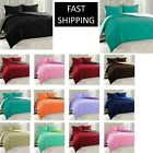 Reversible Goose Down Alternative Comforter Sham 3 PC Set 90 GSM - 10 Colors image