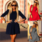 2016 Fashion Summer Casual Long Sleeve Party Evening Cocktail Women Mini Dress