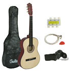 "38"" Beginners Acoustic Guitar With Guitar Case, Strap, Tuner and Pick"