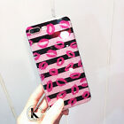 For iPhone 7 plus/6s Luxury Bling Glitter Sexy Lips silicone Soft Case Cover