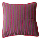 Chenille striped cushion covers 40cm 50cm purple pink grey maroon