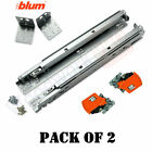 BLUM 563F Series -2 Pairs of Tandem BLUMOTION Drawer Slides with Locking Devices