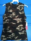 LAST! SOFT Brushed CAMO tank top mock neck camouflage HOT KISS M L XL