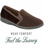 MENS SLIPPERS SLIP ON TWIN SIDE GUSSETS FLEECE UPPER WARM CUSHIONED CASUAL SHOES