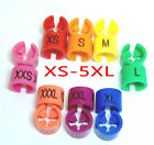 """100Pcs Colirful Hanger Sizer Garment Markers """"XS-5XL""""Plastic Size Marker Tags"""