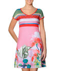 Smash Barcelona S-XXL UK 10-18 RRP�41.50 Pipira Dress Pink Tropical Flowers