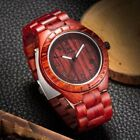 Natural Black Sandal Wood Analog Watch Japan Quartz Movement Wooden Watches Dres