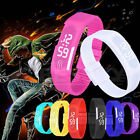 Womens Mens Striking Silicone Red LED Sport Bracelet Touch Digital Wrist Watch
