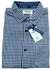 MENS JACK AND JONES SLIM FIT GINGHAM SHIRT DEAN - NAVY BLUE