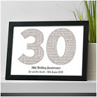 Personalised 30th Wedding Anniversary Gifts - Pearl Anniversary Mr & Mrs Gifts