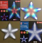 White & Multi Colour LED Digital Flashing Colour Star Xmas Indoor Outdoor Light