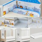 BEAR MOON BABY COT + MATTRESS + 6-PCS NURSERY BEDDING SET 7 COLOURS