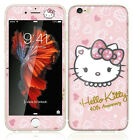 Pink Hello kity Front + Back Full Tempered Glass Film for Apple iPhone 7 & Plus