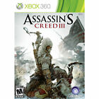 X-Box 360 Assassins Creed III w/case & inst Target Ed. VG