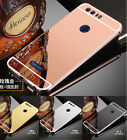 US Luxury Aluminum Metal Bumper + Mirror PC Back Case Cover For Huawei Phones