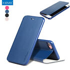Real X-level Slim Luxury Leather Flip Cover Skin Case Stand For iPhone 7&7 Plus
