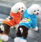 Winter Cute Cartoon Monkey Puppy Dog Clothes Warm Coat Hoodie Jumpsuit