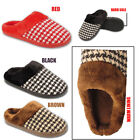 Ladies Womens Mules Slippers Faux Fur Lined Collar Hard Sole Winter Warm Shoes